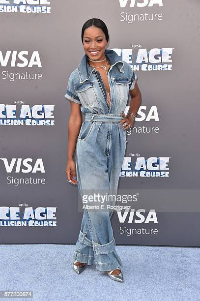 Actress Keke Palmer attends the screening of 'Ice Age Collision Course' at Zanuck Theater at 20th Century Fox Lot on July 16 2016 in Los Angeles...
