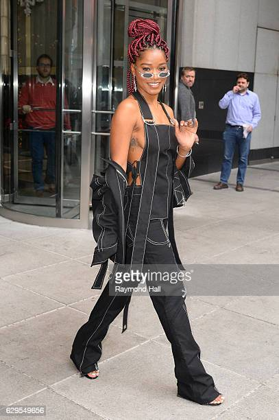 Actress Keke Palmer is seen outside of BET in Midtown on December 13 2016 in New York City