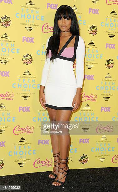 Actress Keke Palmer poses in the press room at the Teen Choice Awards 2015 at Galen Center on August 16 2015 in Los Angeles California