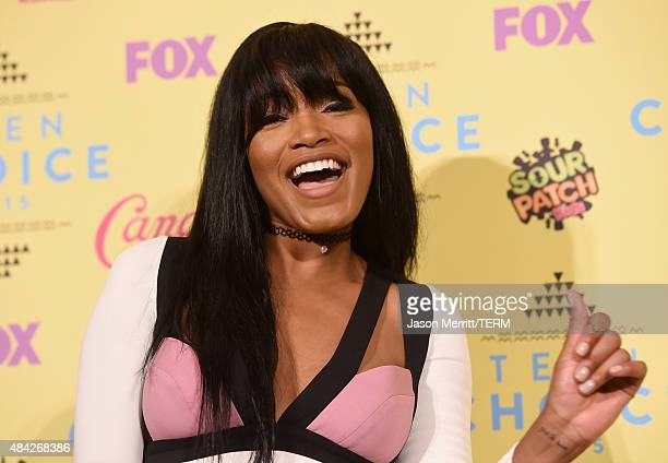 Actress Keke Palmer poses in the press room during the Teen Choice Awards 2015 at the USC Galen Center on August 16 2015 in Los Angeles California