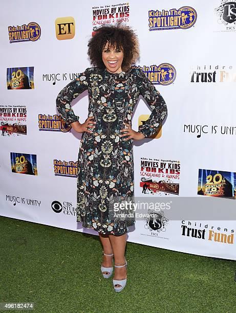 Actress Kellee Stewart arrives at the Kids In The Spotlight's Movies By Kids For Kids Film Awards at Fox Studios on November 7 2015 in Los Angeles...