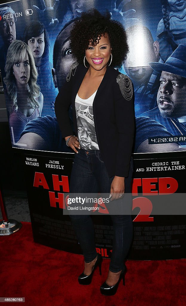 Actress <a gi-track='captionPersonalityLinkClicked' href=/galleries/search?phrase=Kellee+Stewart&family=editorial&specificpeople=2277406 ng-click='$event.stopPropagation()'>Kellee Stewart</a> attends the premiere of Open Road Films' 'A Haunted House 2' at Regal Cinemas L.A. Live on April 16, 2014 in Los Angeles, California.
