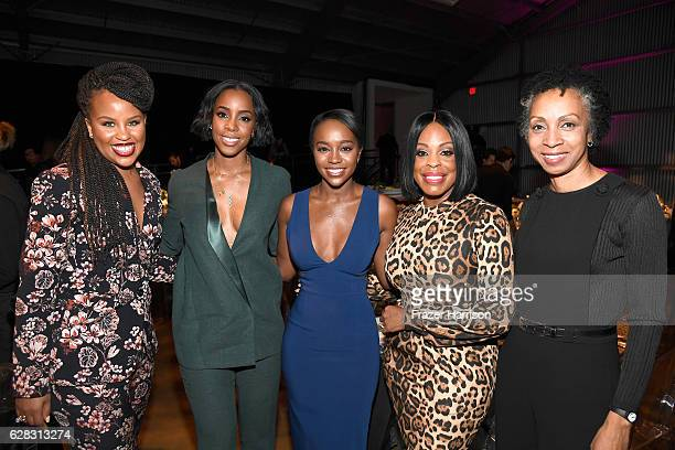 Actress Kellee Stewart recording artist Kelly Rowland actors Aja Naomi King Niecy Nash and honoree Nina Shaw attend The Hollywood Reporter's Annual...