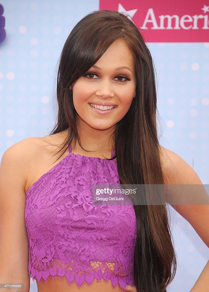 Actress Kelli Berglund arrives at the 2015 Radio Disney Music Awards at Nokia Theatre LA Live on April 25 2015 in Los Angeles California