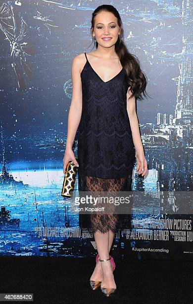 Actress Kelli Berglund arrives at the Los Angeles Premiere 'Jupiter Ascending' at TCL Chinese Theatre on February 2 2015 in Hollywood California