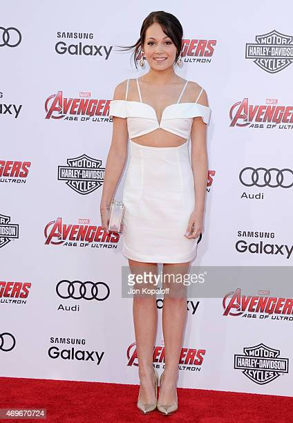 Actress Kelli Berglund arrives at the Los Angeles Premiere Marvel's 'Avengers Age Of Ultron' at Dolby Theatre on April 13 2015 in Hollywood California