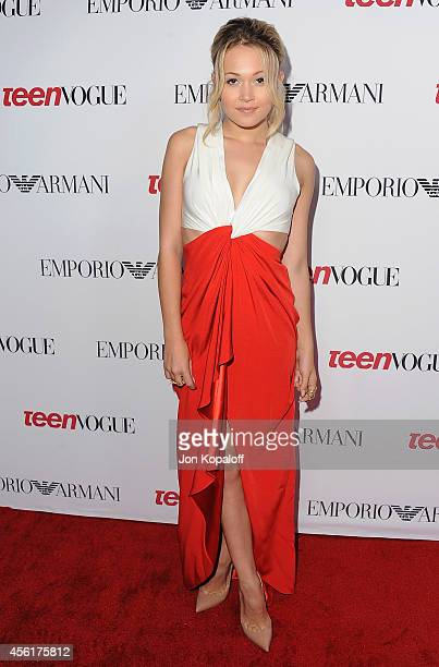 Actress Kelli Berglund arrives at the Teen Vogue Young Hollywood Party on September 26 2014 in Los Angeles California