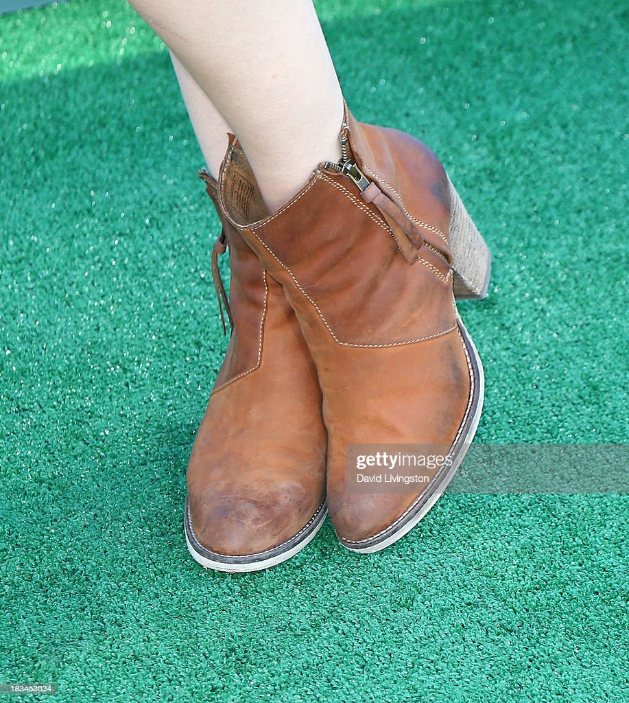 Actress Kelli Berglund (shoe detail) attends the 14th annual Mattel Party on the Pier benefiting Mattel Children's Hospital UCLA at Pacific Park on the Santa Monica Pier on October 6, 2013 in Santa Monica, California.