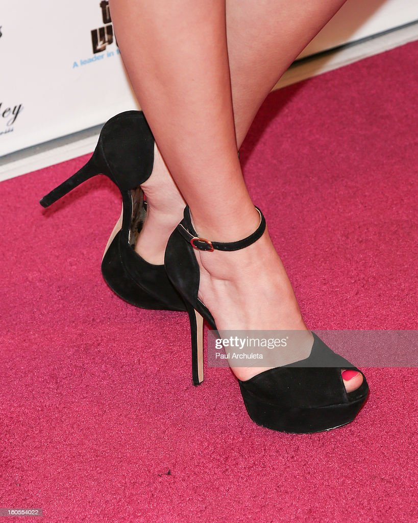 Actress Kelli Berglund (Shoe Detail) attends the 4th Annual Tutus4Tots charity event on February 2, 2013 in Chino, California.