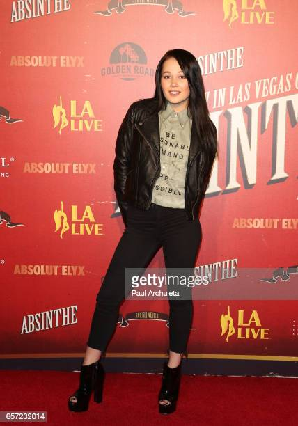 Actress Kelli Berglund attends the opening night performance of 'Absinthe' at LA Live Event Deck on March 23 2017 in Los Angeles California