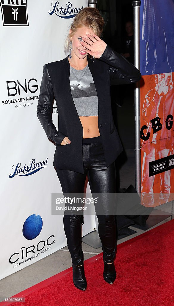 Actress <a gi-track='captionPersonalityLinkClicked' href=/galleries/search?phrase=Kelli+Garner&family=editorial&specificpeople=211517 ng-click='$event.stopPropagation()'>Kelli Garner</a> attends a screening of Xlrator Media's 'CBGB' at ArcLight Cinemas on October 1, 2013 in Hollywood, California.