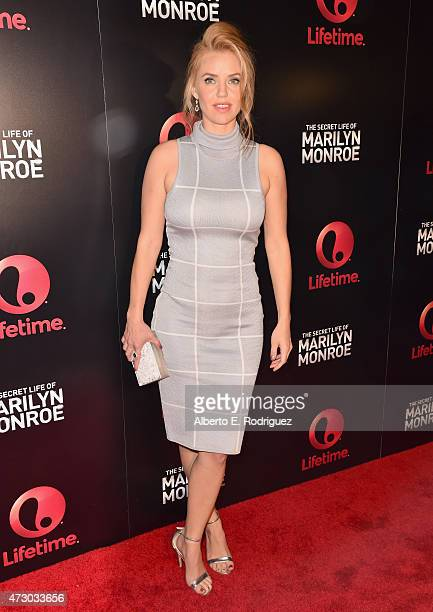 Actress Kelli Garner attends the screening of Lifetime's Miniseries 'The Secret Life Of Marilyn Monroe at The Theatre At The Ace Hotel on May 11 2015...