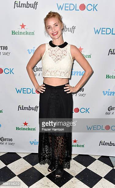 Actress Kelli Garner attends the screening party for Vimeo On Demand's New WebSeries 'Wedlock' at The Ace Hotel on September 25 2014 in Downtown Los...