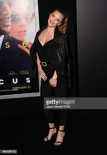 Actress Kelli Garner attends the Warner Bros Pictures' 'Focus' premiere at TCL Chinese Theatre on February 24 2015 in Hollywood California