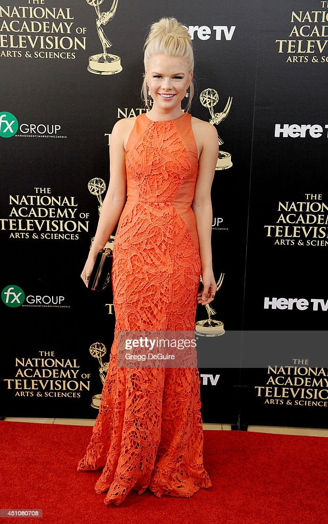 Actress <a gi-track='captionPersonalityLinkClicked' href=/galleries/search?phrase=Kelli+Goss&family=editorial&specificpeople=7229505 ng-click='$event.stopPropagation()'>Kelli Goss</a> arrives at the 41st Annual Daytime Emmy Awards at The Beverly Hilton Hotel on June 22, 2014 in Beverly Hills, California.