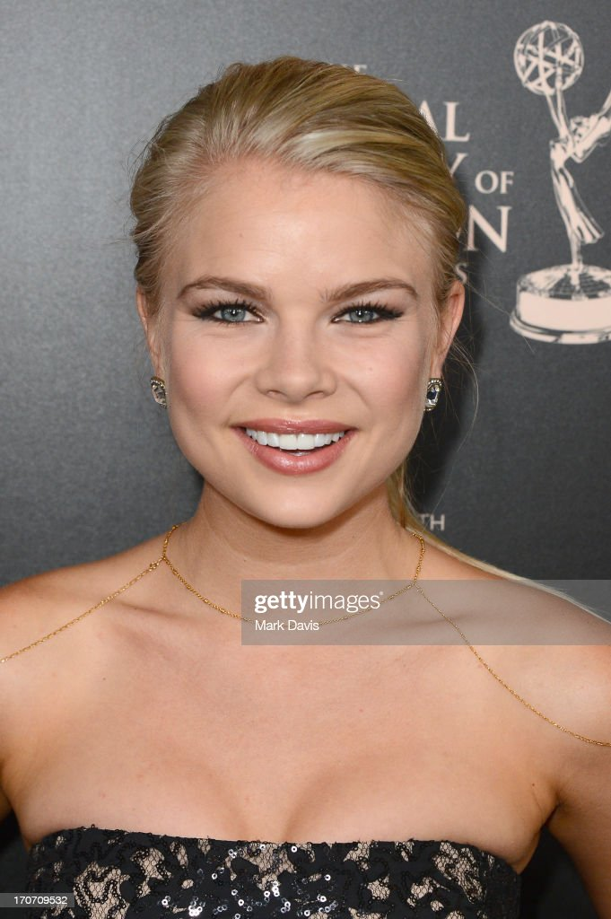 Actress <a gi-track='captionPersonalityLinkClicked' href=/galleries/search?phrase=Kelli+Goss&family=editorial&specificpeople=7229505 ng-click='$event.stopPropagation()'>Kelli Goss</a> attends The 40th Annual Daytime Emmy Awards at The Beverly Hilton Hotel on June 16, 2013 in Beverly Hills, California.