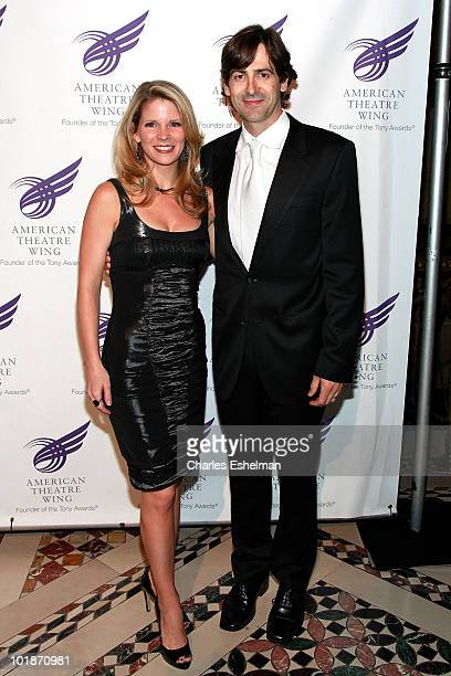 Actress Kelli O'Hara and guest attend the 2010 American Theatre Wing Spring Gala at Cipriani 42nd Street on June 7 2010 in New York City