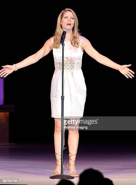 COVERAGE*** Actress Kelli O'Hara performs at the 5th Annual 'A Fine Romance' at 20th Century Fox on May 1 2010 in Los Angeles California