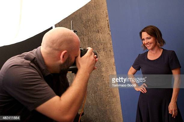 Actress Kelli Williams of UP Entertainment's 'Ties That Bind' attends the Getty Images Portrait Studio powered by Samsung Galaxy at 2015 Summer TCA's...