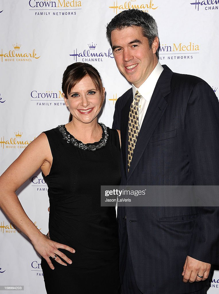 Actress Kellie Martin and husband Keith Christian attend the Hallmark Channel 2013 winter press gala at Huntington Library on January 4, 2013 in Pasadena, California.