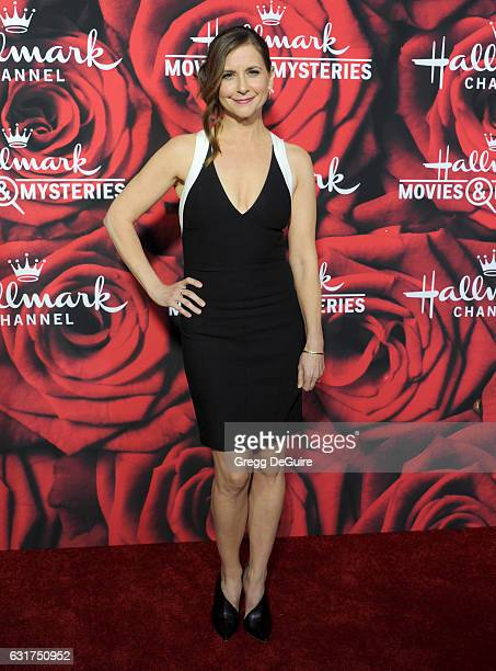 Actress Kellie Martin arrives at Hallmark Channel And Hallmark Movies And Mysteries Winter 2017 TCA Press Tour at The Tournament House on January 14...