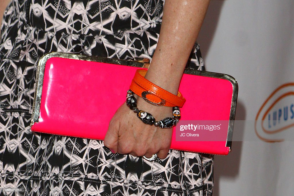 Actress Kellie Martin (accesory detail) attends Lupus LA 13th Annual Orange Ball Gala at Regent Beverly Wilshire Hotel on May 9, 2013 in Beverly Hills, California.