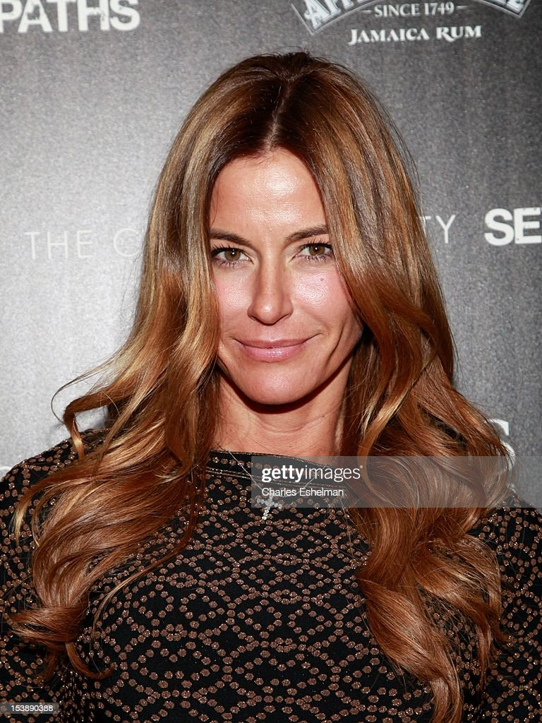 Actress Kelly Bensimon attends The Cinema Society with Hugo Boss and Appleton Estate screening of 'Seven Psychopaths' at Clearview Chelsea Cinemas on October 10, 2012 in New York City.