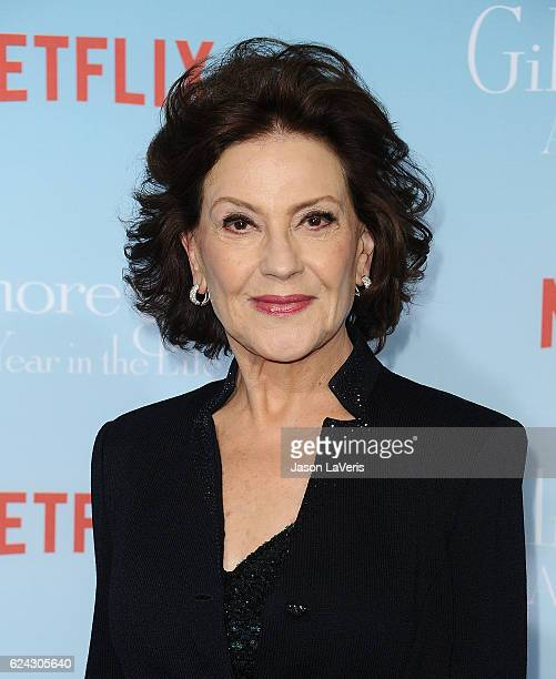 Actress Kelly Bishop attends the premiere of 'Gilmore Girls A Year in the Life' at Regency Bruin Theatre on November 18 2016 in Los Angeles California