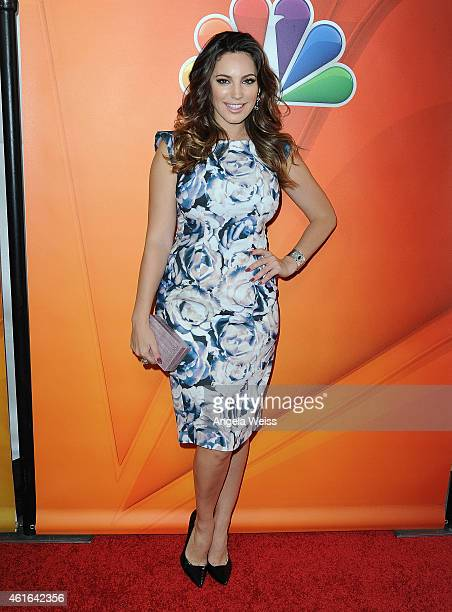 Actress Kelly Brook arrives at NBCUniversal's 2015 Winter TCA Tour Day 2 at The Langham Huntington Hotel and Spa on January 16 2015 in Pasadena...