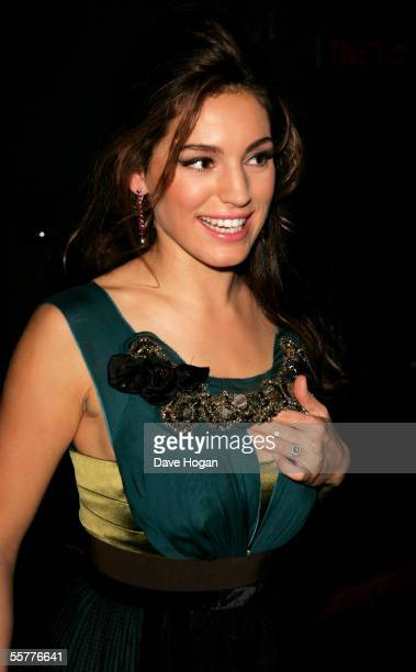 Actress Kelly Brook arrives at the UK Premiere of 'Deuce Bigalow European Gigolo' at the Rex Cinema Bar on September 26 2005 in London England