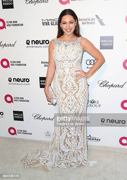 Actress Kelly Brook attends the 23rd Annual Elton John AIDS Foundation's Oscar Viewing Party on February 22 2015 in West Hollywood California
