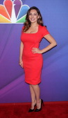 Actress Kelly Brook from 'One Big Happy' attends the 2014 NBC Upfront Presentation at The Jacob K Javits Convention Center on May 12 2014 in New York...