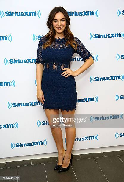 Actress Kelly Brook visits the SiriusXM Studios on April 16 2015 in New York City