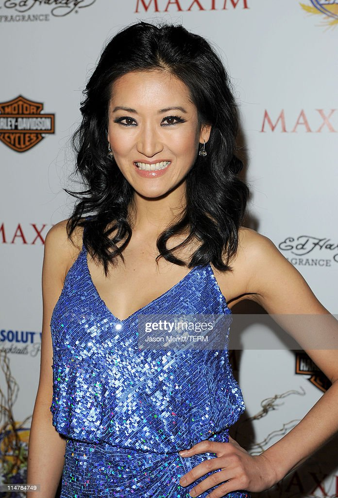 Actress <a gi-track='captionPersonalityLinkClicked' href=/galleries/search?phrase=Kelly+Choi&family=editorial&specificpeople=5102141 ng-click='$event.stopPropagation()'>Kelly Choi</a> arrives at the 11th annual Maxim Hot 100 Party with Harley-Davidson, ABSOLUT VODKA, Ed Hardy Fragrances, and ROGAINE held at Paramount Studios on May 19, 2010 in Los Angeles, California.