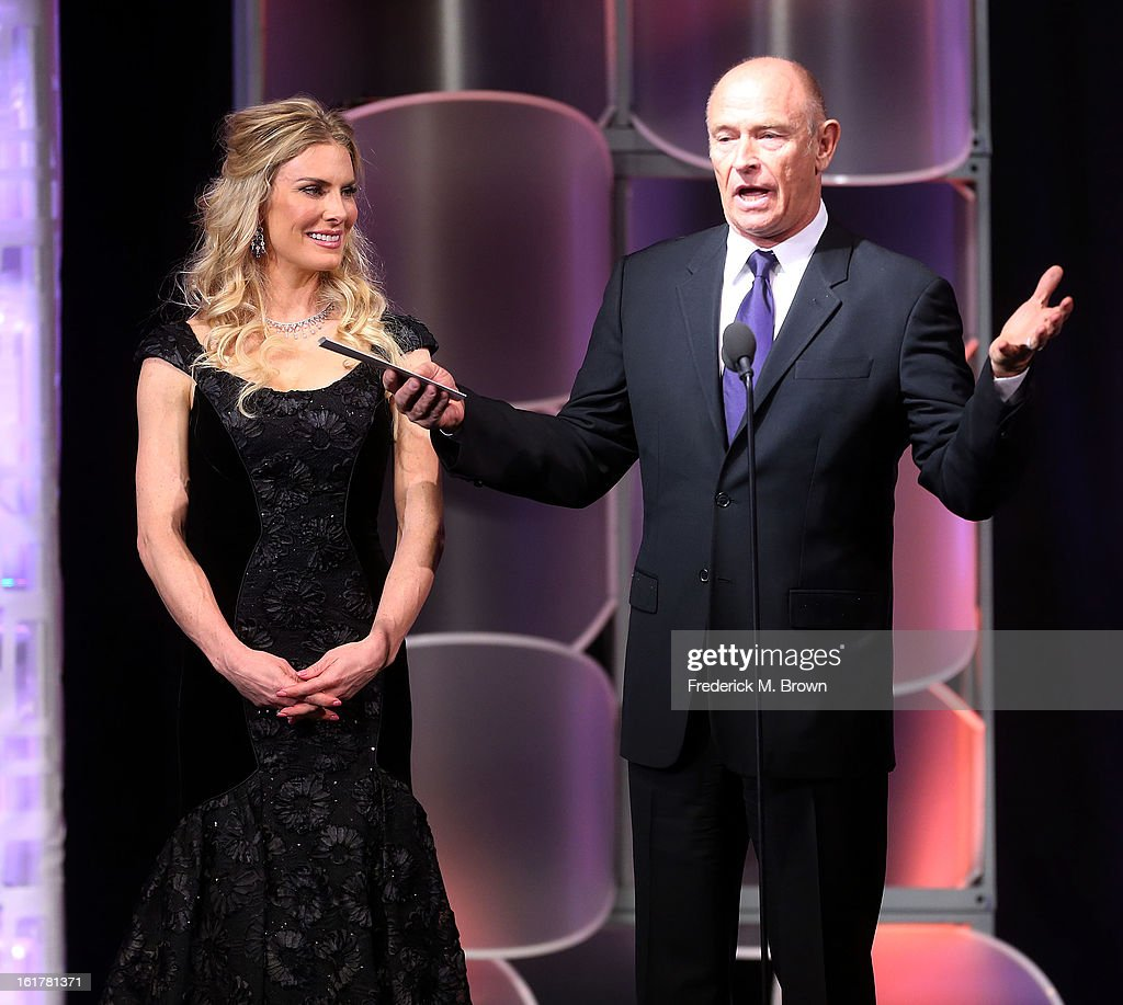 Actress Kelly Greyson (L) and actor <a gi-track='captionPersonalityLinkClicked' href=/galleries/search?phrase=Corbin+Bernsen&family=editorial&specificpeople=211428 ng-click='$event.stopPropagation()'>Corbin Bernsen</a> speak during the 21st Annual Movieguide Awards at the Universal Hilton Hotel on February 15, 2013 in Universal City, California.