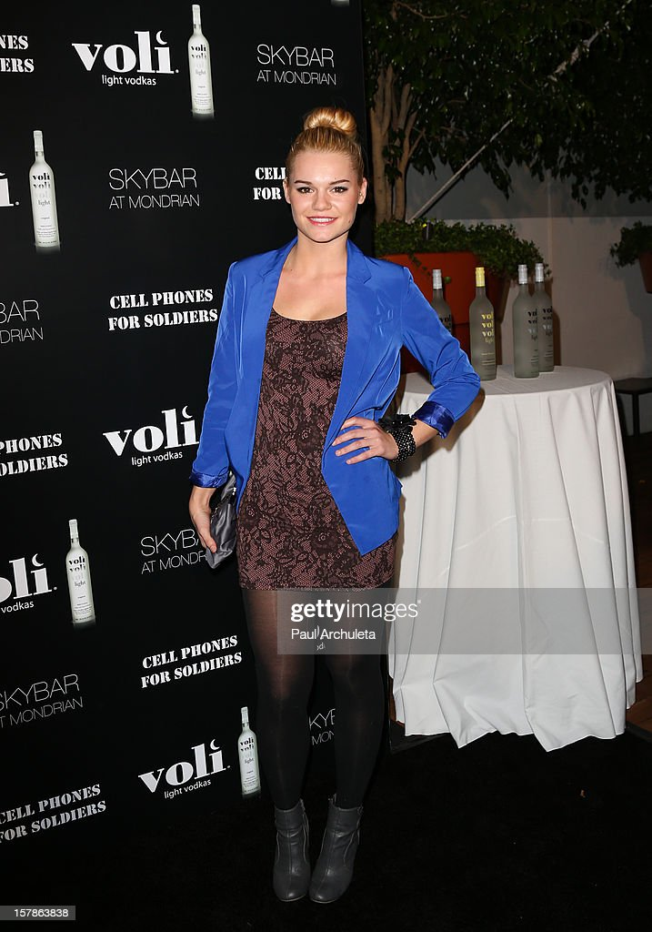 Actress Kelly Heyer attends the Cell Phones For Soldiers charity event sponsored by Voli Light Vodka at Sky Bar in the Mondrian Hotel on December 6, 2012 in West Hollywood, California.