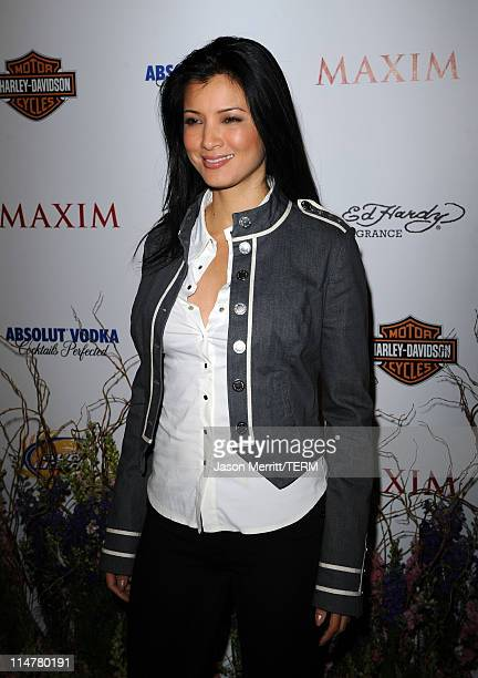 Actress Kelly Hu arrives at the 11th annual Maxim Hot 100 Party with HarleyDavidson ABSOLUT VODKA Ed Hardy Fragrances and ROGAINE held at Paramount...