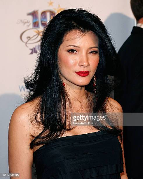 Actress Kelly Hu arrives at the 21st annual Night Of 100 Stars awards gala at Beverly Hills Hotel on February 27 2011 in Beverly Hills California