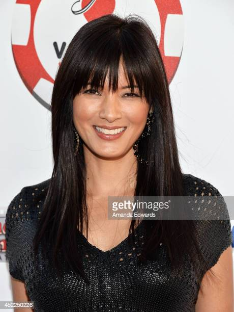 Actress Kelly Hu arrives at the 4th Annual Variety The Children's Charity of Southern CA Texas Hold 'Em Poker Tournament at Paramount Studios on July...
