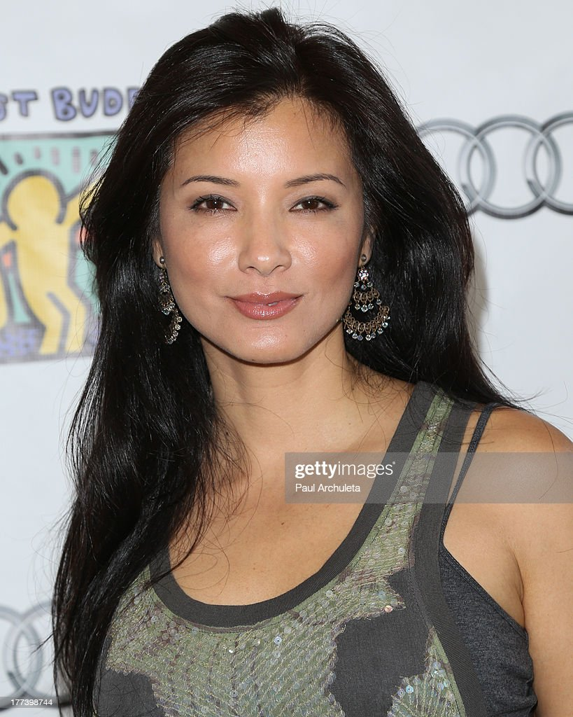 Actress <a gi-track='captionPersonalityLinkClicked' href=/galleries/search?phrase=Kelly+Hu&family=editorial&specificpeople=202918 ng-click='$event.stopPropagation()'>Kelly Hu</a> attends the Best Buddies celebrity poker charity event at Audi Beverly Hills on August 22, 2013 in Beverly Hills, California.