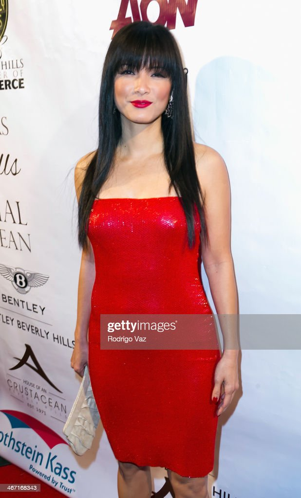 Actress <a gi-track='captionPersonalityLinkClicked' href=/galleries/search?phrase=Kelly+Hu&family=editorial&specificpeople=202918 ng-click='$event.stopPropagation()'>Kelly Hu</a> attends the Beverly Hills Chamber of Commerce hosting