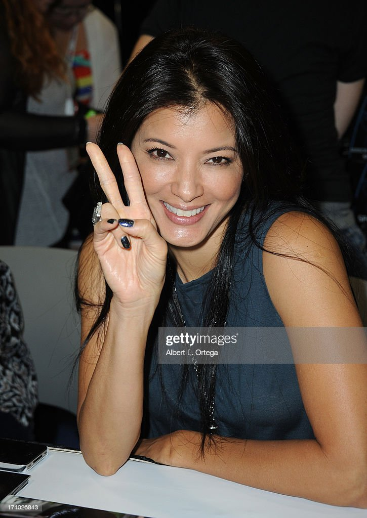 Actress <a gi-track='captionPersonalityLinkClicked' href=/galleries/search?phrase=Kelly+Hu&family=editorial&specificpeople=202918 ng-click='$event.stopPropagation()'>Kelly Hu</a> during Comic-Con International at San Diego Convention Center on July 19, 2013 in San Diego, California.