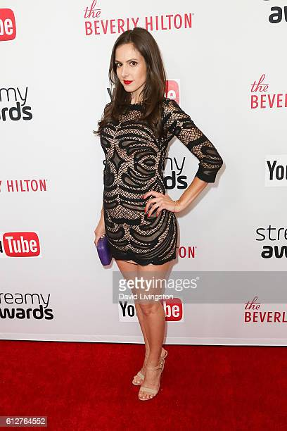 Actress Kelly Landry arrives at the 2016 Streamy Awards at The Beverly Hilton Hotel on October 4 2016 in Beverly Hills California