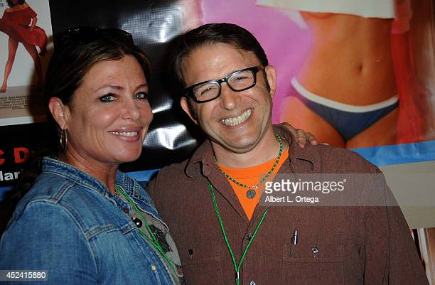 Actress Kelly LeBrock and actor Ilan Mitchell Smith at the The Hollywood Show held at Westin Los Angeles Airport on July 19 2014 in Los Angeles...