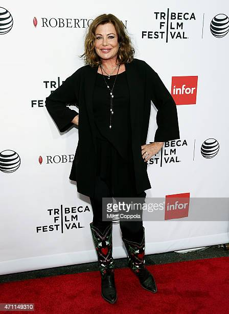 Actress Kelly LeBrock attends the closing night screening of 'Goodfellas' during the 2015 Tribeca Film Festival at Beacon Theatre on April 25 2015 in...