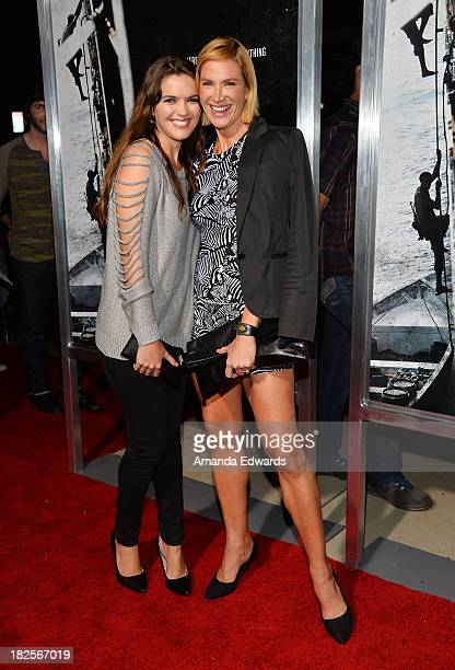 Actress Kelly Lynch and her daughter Shane Lynch arrive at the Los Angeles premiere of 'Captain Phillips' at the Academy of Motion Picture Arts and...