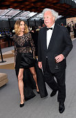 Actress Kelly Lynch and Vanity Fair EditorinChief Graydon Carter attend the 2015 Vanity Fair Oscar Party Viewing Dinner hosted by Graydon Carter at...