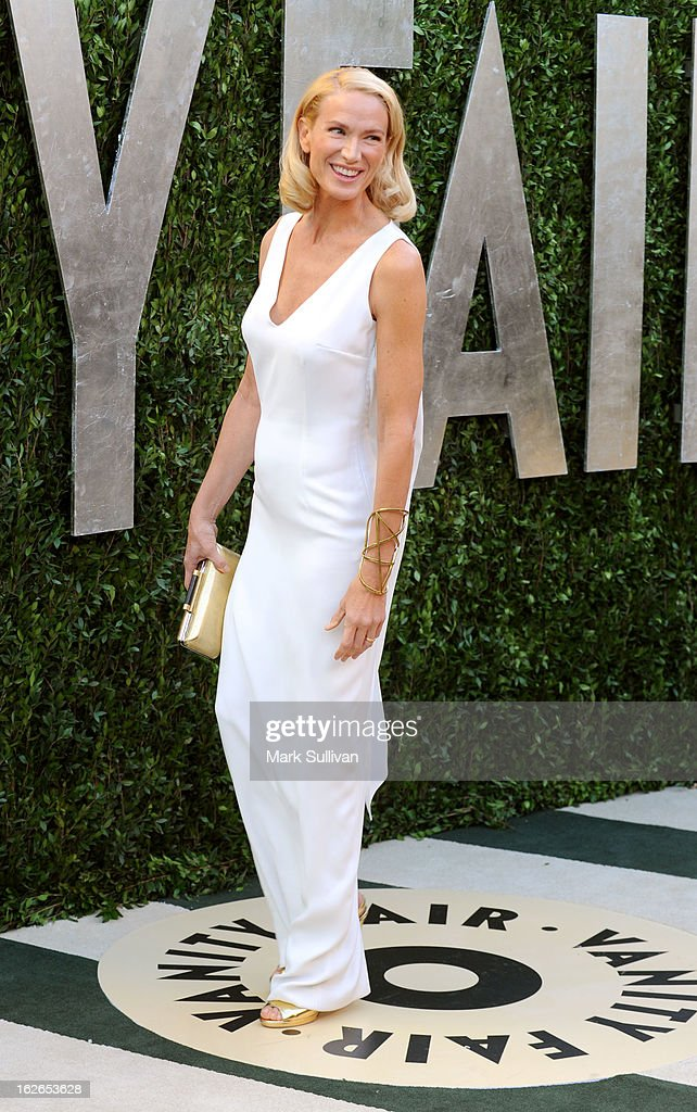 Actress Kelly Lynch arrives at the 2013 Vanity Fair Oscar Party at Sunset Tower on February 24, 2013 in West Hollywood, California.