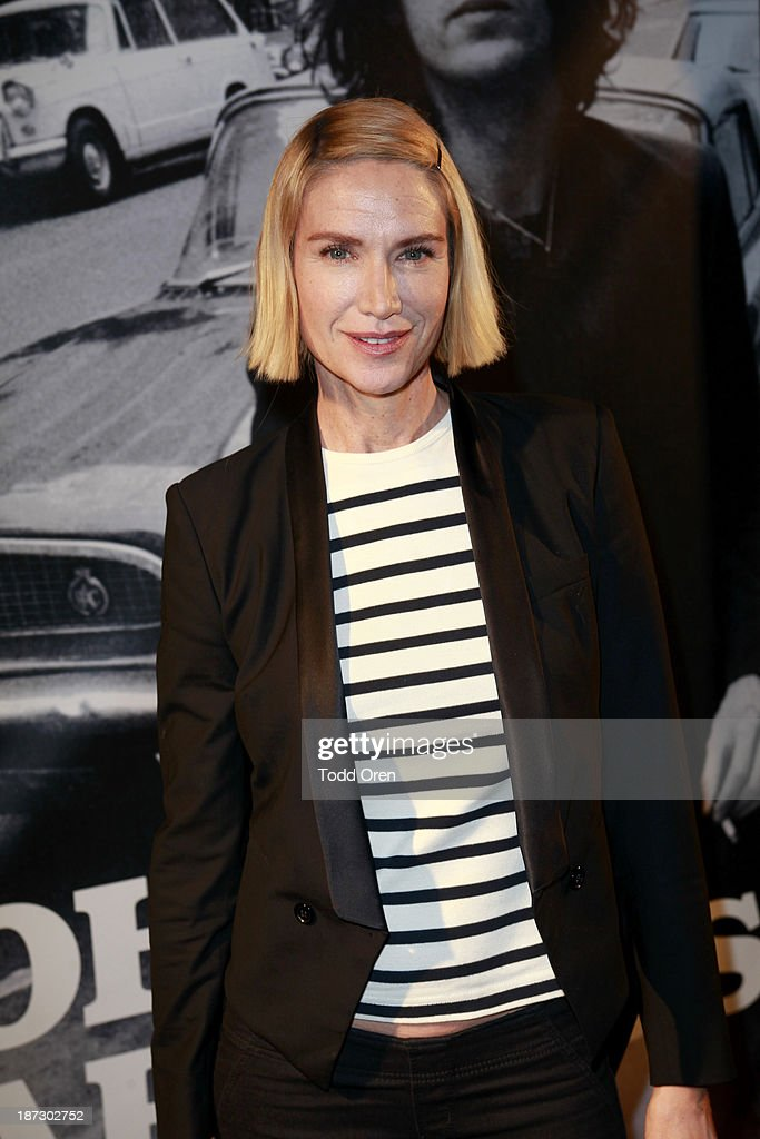 Actress <a gi-track='captionPersonalityLinkClicked' href=/galleries/search?phrase=Kelly+Lynch&family=editorial&specificpeople=203037 ng-click='$event.stopPropagation()'>Kelly Lynch</a> arrives to the 'John Varvatos: Rock In Fashion book launch celebration held at John Varvatos Los Angeles on November 7, 2013 in Los Angeles, California.