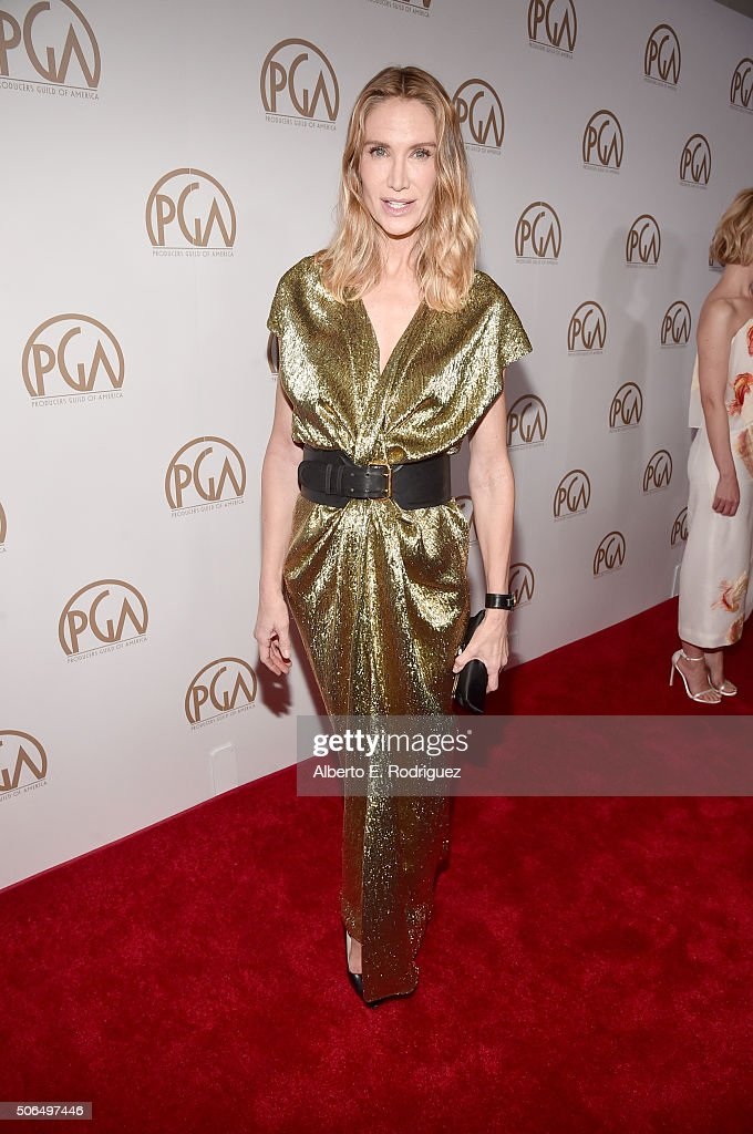 Actress Kelly Lynch attends 27th Annual Producers Guild Of America Awards at the Hyatt Regency Century Plaza on January 23, 2016 in Century City, California.